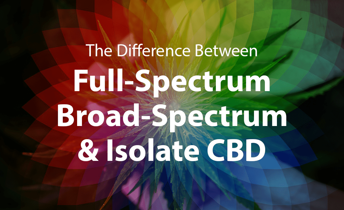 Difference Between Full-Spectrum, Broad Spectrum, and Isolate CBD